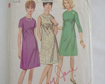 Simplicity Pattern 6725, Misses' Dress, Size 16, Bust 36