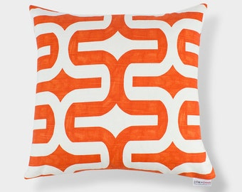Tangelo Orange Embrace Throw Pillow Cover - 16 inch