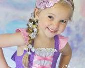 Girls Rapunzel Twirl Dress, Rapunzel Purple Dress inspired by Disney's Tangled, sizes 2T-8girls