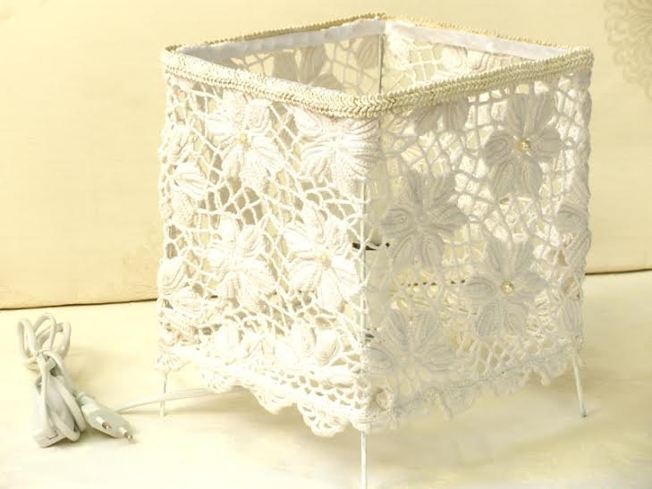 Shabby Chic Lamp Living Room Lights White Lace Table Lamp
