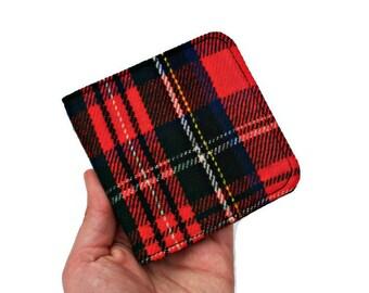 Lumberjack Wallet,Super Thin Wallet,Slimfold Wallet,Simple Wallet,Slim Pocket Wallet,Plaid Wool Wallet,Red Black Wallet,Scottish Tartan Gift