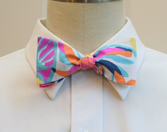 Lilly Bow Tie in multi Besame Mucho (self-tie)