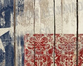 Instant Download DIY Facebook Timeline Cover Image Texas Flag with Vintage Flair texture add your own text damask wood fence distressed
