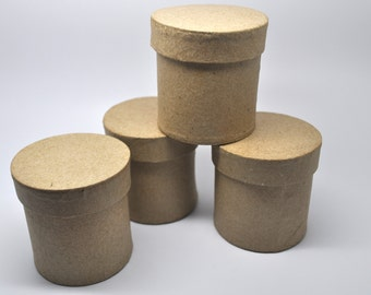 2 inch Circle Box - Favor Box - Qty 4 - 1 7/8 wide - Paper Mache - Kraft Box - Wedding Favor Box