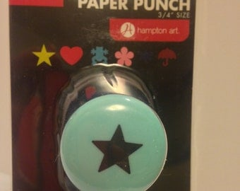 KI/Hampton Arts Brand --  Star Paper Punch   --  3/4 inch size  --  NEW  (#1267)