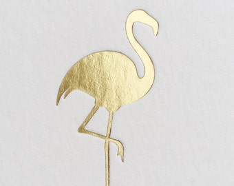 Flamingo Coasters, Gold Foil, 25 CT.