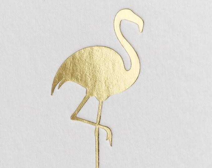 Flamingo Coasters, Gold Foil, 25 CT.