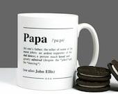 Personalised 'Papa' Definition Gift Mug