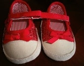 Baby Crib Shoes, Red Shoes, Baby Shoes, Girl Shoes, Infant Shoes, Kids Shoes, Gift, Comfi Shoes, Shoes, Girlie Shoes, Tenis Shoes,