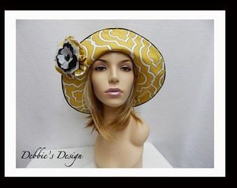 Women's Hat-442 - Womens Hats, Hats, Handmade, Millinery, Accessories, Gifts, Lightweight, Folk Hat