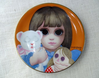 Vintage Margaret Keane Big Eyes collector plate MDH Third Limited Edition 1978 Bedtime Dave Grossman Designs
