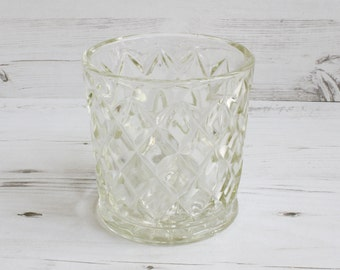 Vintage Glass Vase - Clear Flower Large Glassware Decorative Houseware Display