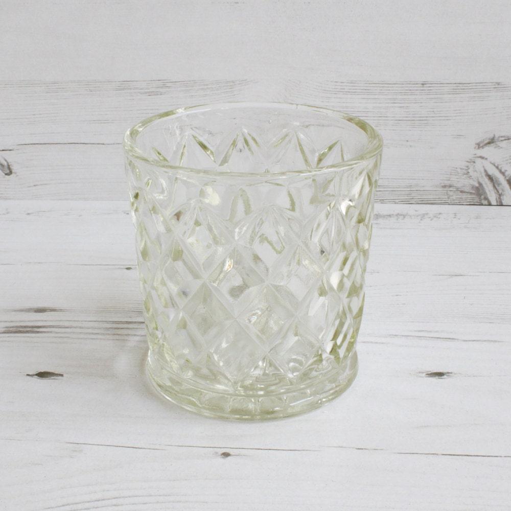 vintage glass vase clear flower large glassware decorative. Black Bedroom Furniture Sets. Home Design Ideas