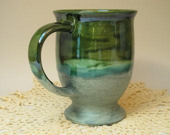 Leaf Green over Sagebrush pedestal mug