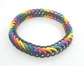 30% OFF SALE True Colors Rainbow Pride Chainmaille Stretch Bracelet