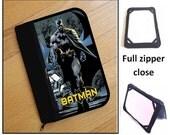 personalized HARD case - ipad case/ kindle case/ nook case/ others - full zipper close - batman