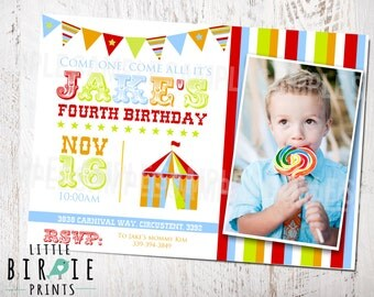 CARNIVAL INVITATION CARNIVAL Birthday party invitation Carnival party invitation Circus Invitation