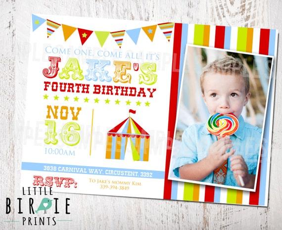CARNIVAL INVITATION CARNIVAL Birthday party invitation Carnival party invitation Circus Invitation