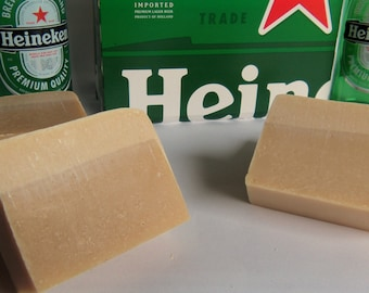 Select 2 or 3 Beer Soaps made with Heineken approx 4oz each Made to look like a pint of Beer with a head. Both wrapped. Guy Man