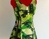 Vintage 60s Hawaiian TIKI MINI Dress S M