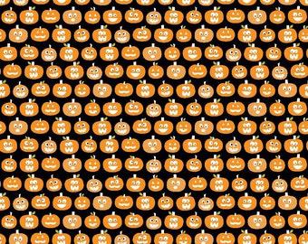 Riley Blake Halloween Pumpkins in Black