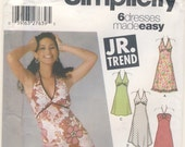 Simplicity  5112 Juniors Halter Style Dress with Hemline Variations  2 multi size patterns available