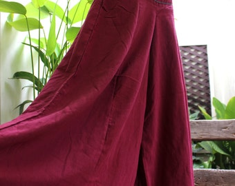 Wide Leg Pants - SL03 RED Wine