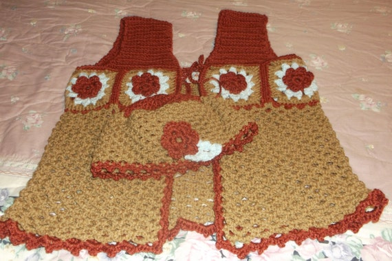 Vest and Matching Cloche (Hat) in Granny Squares.