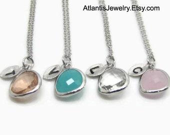 Initial Necklace, Bridesmaid Gift, Bridesmaid Necklace, Wedding Necklace, SALE 15% OFF