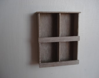 Miniature shelves
