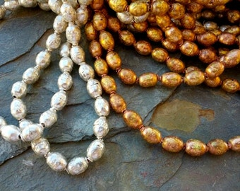 Ethiopian Prayer Beads, Handmade Tin or Brass Beads, 12 to 14mm
