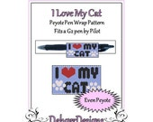 Bead Pattern Peyote(Pen Wrap/Cover)-I Love My Cat