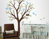 Wall decals nursery - Tree wall decal - Baby Garden Tree Vinyl Wall Decal - Tree and Birds Wall Decal - Tree - Nursery decal - baby