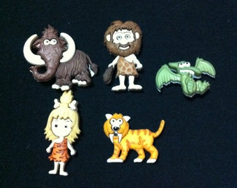Stone Age Novelty Buttons / Sewing supplies / DIY craft supplies / Plastic Buttons / Party Supplies / Kids Craft Supplies