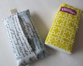 Tissue Case/Letter On Ivory And Blue