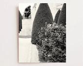 Black and White Photography - Paris Photography - The Thinker - Rodin Museum Print - Paris Decor - French Gardens - Classic Parisian Art