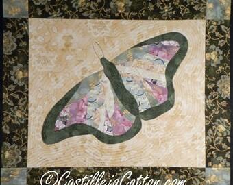 Butterfly Art Quilt, 4687-6, Butterfly fabric art, Butterfly wall hanging