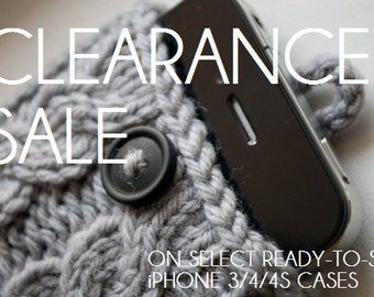 CLEARANCE SALE - Select Ready-To-Ship Cable Knit iPhone 3/4/4S Case