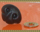 1 inch or 24MM  plastic Black Dog or Bear Animal nose with back safety nose