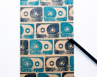 Cassette Tape journal large moleskine mix tape notebook