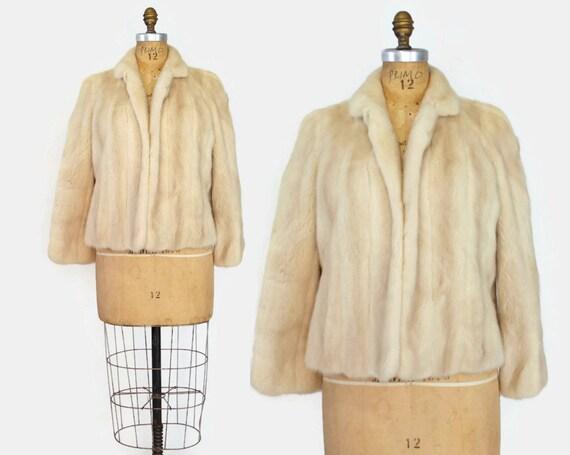 60s Champagne MINK COAT / 1960s Designer Platinum Tourmaline