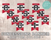 Hockey Party Custom CONCESSIONS banner by Beth Kruse Custom Creations