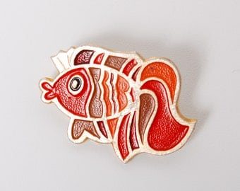 Vintage pin, fish,  Badge from USSR.