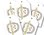 Favor Tags, Baby Shower Party Decor // BABY HEDGEHOG