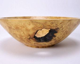 "Birdseye Mulberry Burl Wooden Bowl #1403 9 3/8"" X 3"""