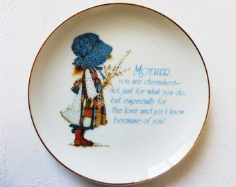 Holly Hobby Porcelain Plate for Mother Vintage 1983 Lasting Memories ON SALE