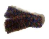 Womens Knit Scarf, Multi-Colour Scarf, Fuzzy Scarf, Winter Scarf