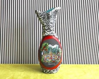 Mid Century Modern Italian Biomorphic Pottery Vase Meran