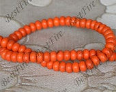 15inch Single 5x8mm orange turquoise abacus nugget gemstone beads,Turquoise abacus jewelry, Gemstone Bead loose strands