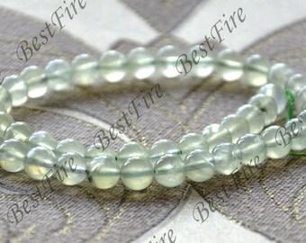 15inch Single 8mm prehnite stone nugget ,stone nugget beads, prehnite loose semi-precious stone beads, prehnite crystal loose strands